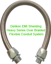 Delikon Military Circular Connector Backshell is designed to connect a cylindrical connector to flexible conduit.
