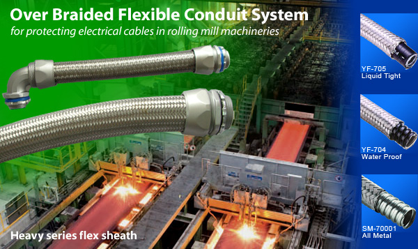 Heavy series flex sheath - Over Braided Flexible Conduit